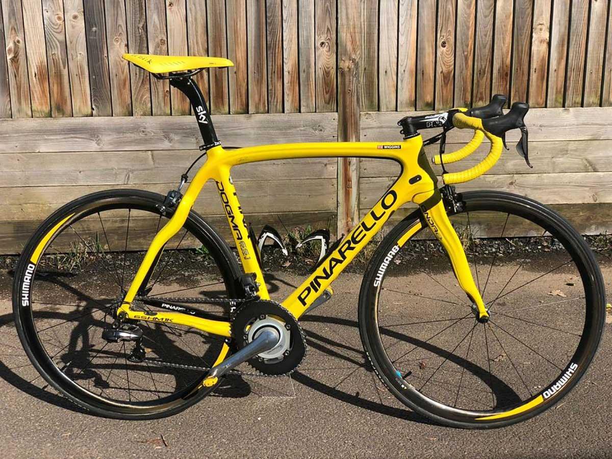 A la venta la Pinarello con la que Bradley Wiggins ganó el Tour de Francia de 2012