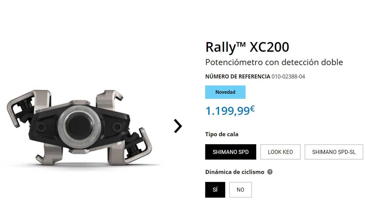 ¿En serio cuestan 1.200€ los nuevos pedales Garmin Rally XC200?