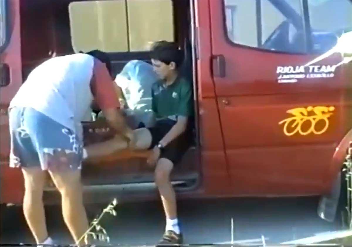 Inédito vídeo de Carlos Coloma con 12 años en su primera carrera en bicicleta de montaña