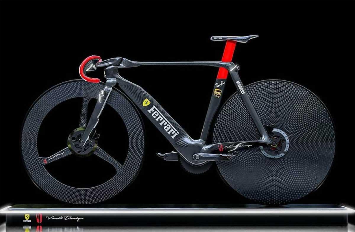 Bicicleta Ferrari Vasili. Una concept bike diseñada por Vasili Zygouris