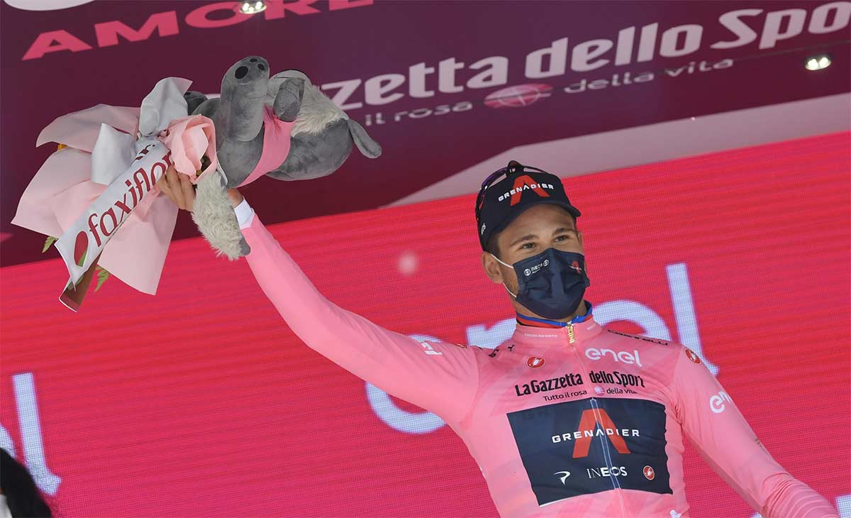 775 vatios y 66,6 km/h. Los datos de Filippo Ganna en la primera crono del Giro de Italia
