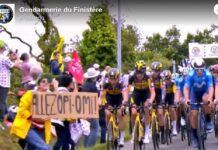 La Policía francesa busca en las redes sociales a la causante de la caída masiva en el Tour
