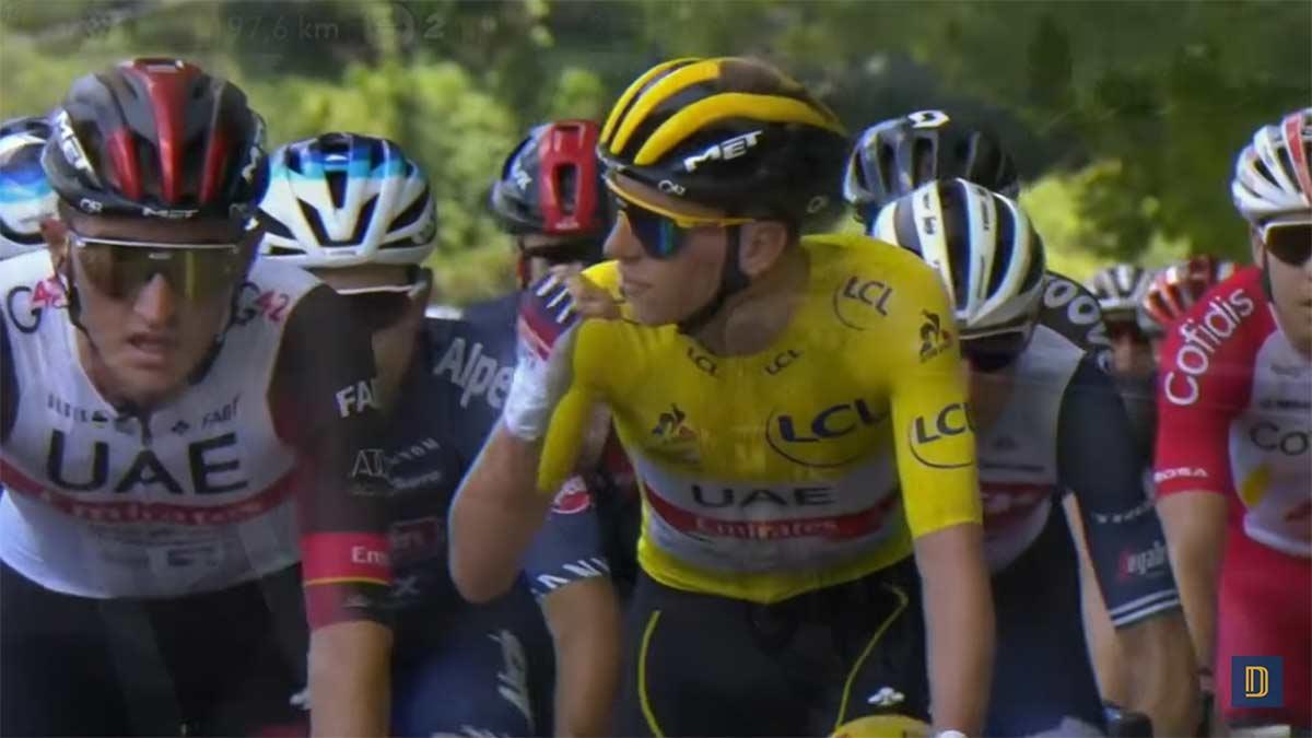 El motor oculto en la bicicleta de Tadej Pogacar que denuncian algunos ciclistas del Tour de Francia