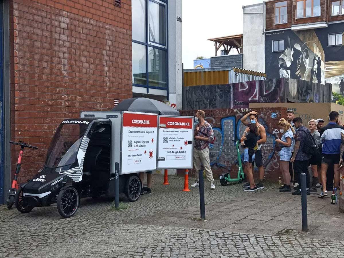 Llegan las CoronaBike, bicicletas de carga con laboratorio
