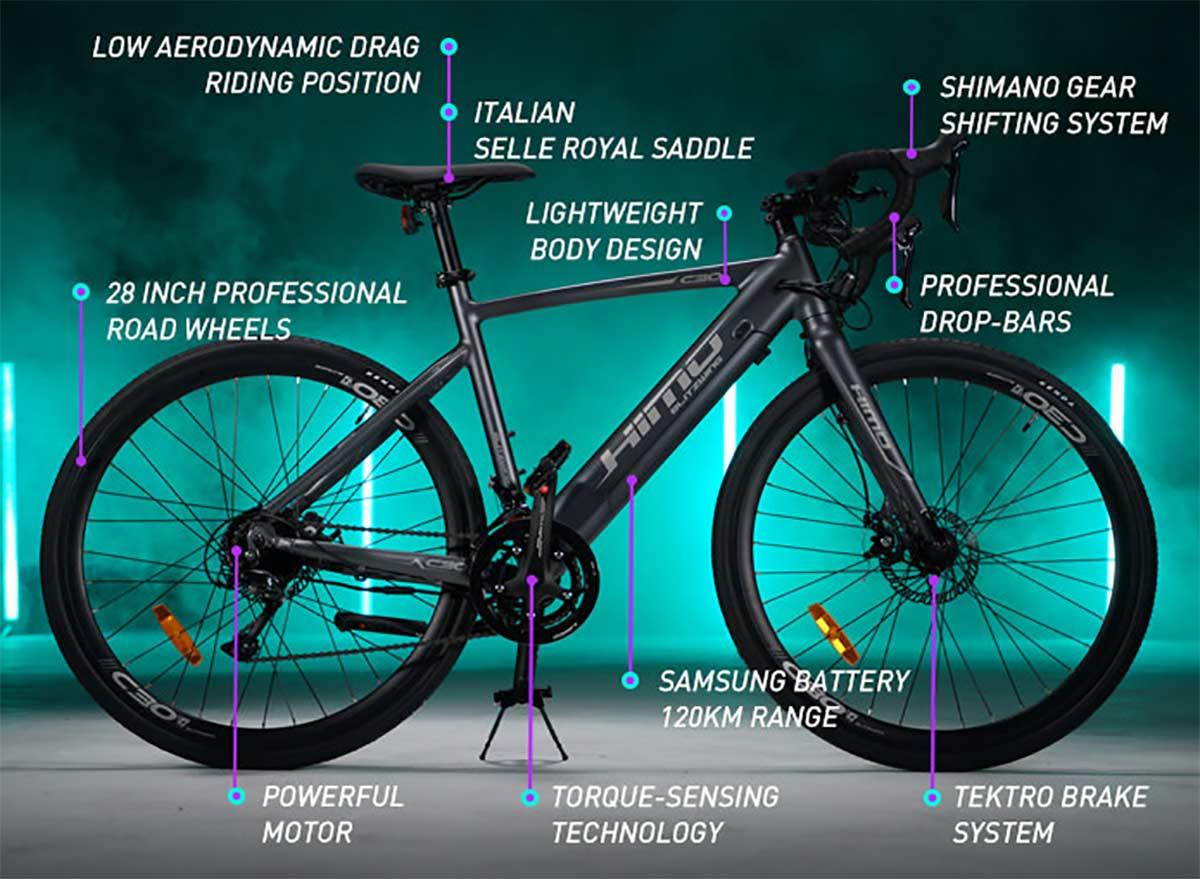 Por-poco-mas-de-1.000E-Asi-son-las-nuevas-bicicletas-electricas-de-carretera-Xiaomi-Himo-C30S-y-C30R-gravel-ciudad