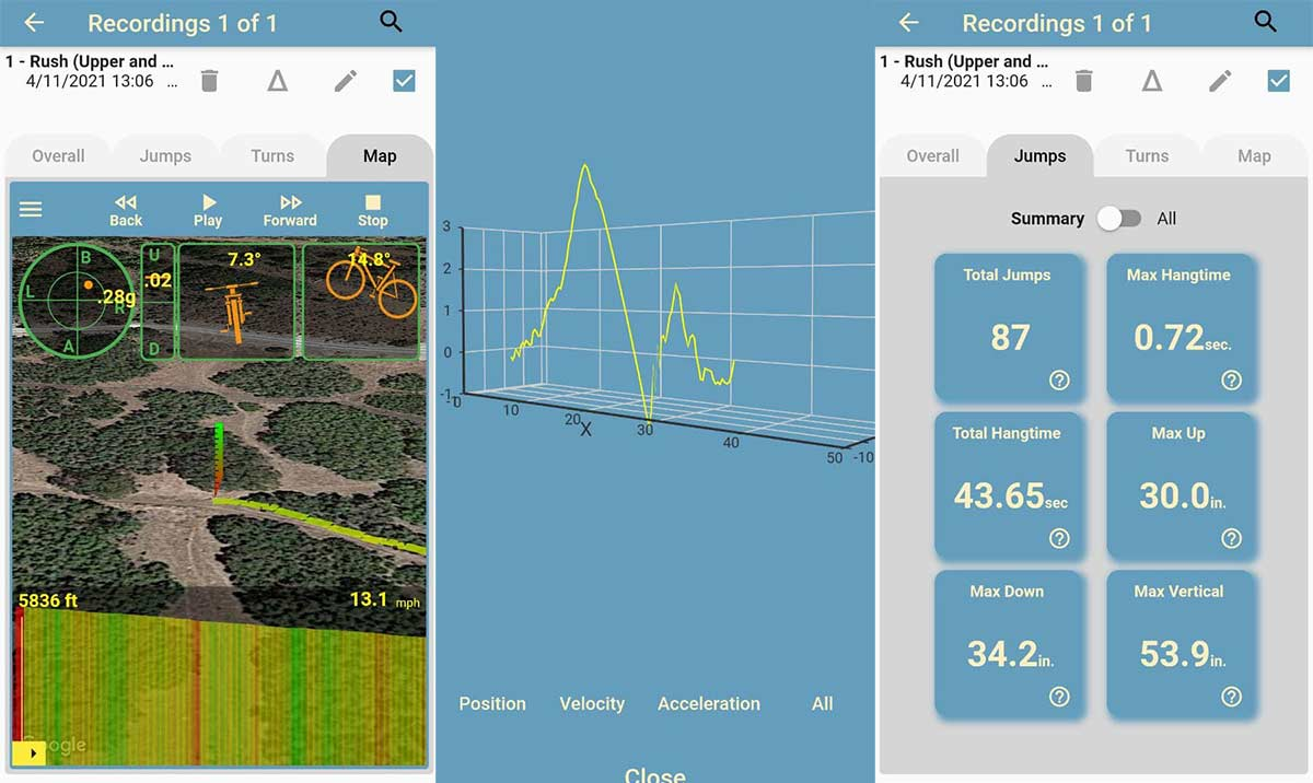 ¡Llegan los KOM en saltos y curvas! Una App para medir y comparar tus saltos y curvas con más ciclistas - MTB hangtime