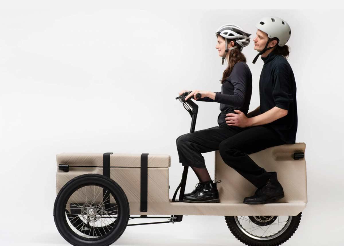 100 kg de peso, impresa en 3D y materiales reciclados, así es esta bicicleta eléctrica de carga austriaca
