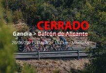 ¡Atención! Cerrado al público por riesgo de incendio El Balcón de Alicante, llegada de La Vuelta hoy