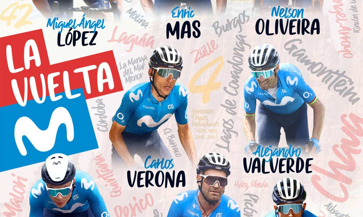 Este es el 8 oficial del Movistar Team para la Vuelta Ciclista a España 2021