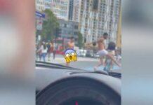 Video-Dos-hombres-sin-ropa-atacan-a-un-ciclista-en-plena-ciudad