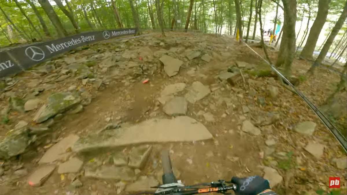 Vídeo: Piedras, piedras y algún salto en la WC de Snowshoe